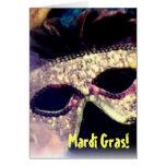 Tarjeta de la máscara del carnaval