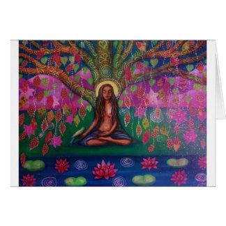 Tarjeta de la meditación del árbol de Bodhi