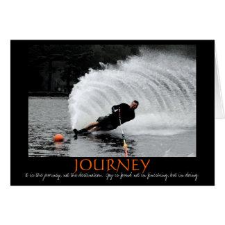Tarjeta de la motivación del esquí náutico (B&W te