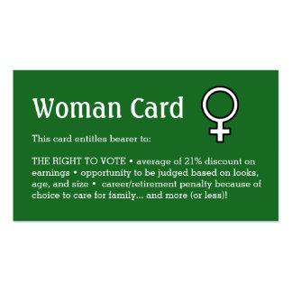 "Tarjeta de la mujer, negocio, 3,5"" x 2,0"", 100 tarjetas de visita"