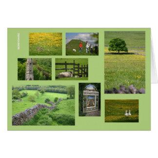 Tarjeta de la multi-imagen de Derbyshire