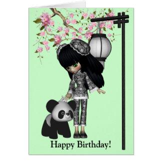 Tarjeta de la muñeca de Kawaii China