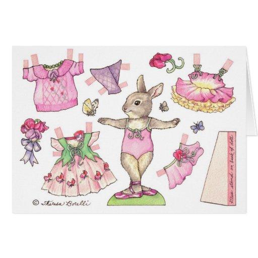 Tarjeta de la muñeca del papel en blanco del guisa