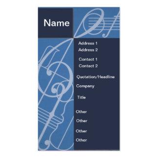 Tarjeta de la música tarjeta personal