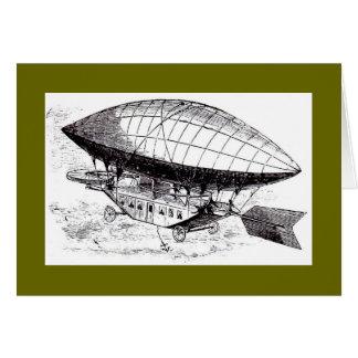 Tarjeta de la nave del aire