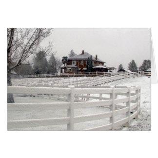 Tarjeta de la nieve del navidad
