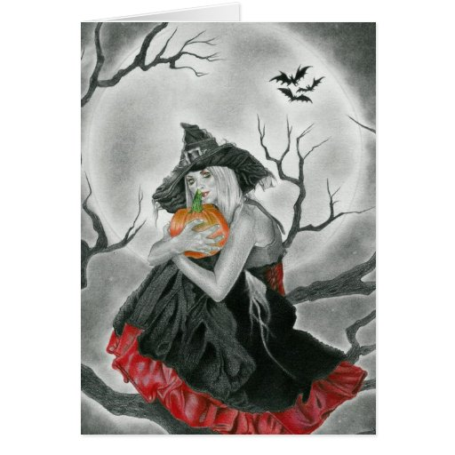 tarjeta de la noche de Halloween