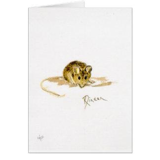Tarjeta de la nota/de felicitación del ratón