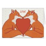 Tarjeta de la nota del amor de la tarjeta del día