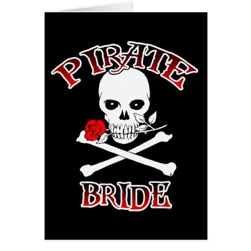 Tarjeta de la novia del pirata