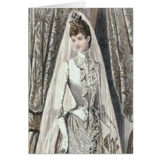 Tarjeta de la novia del Victorian
