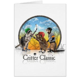 Tarjeta de la obra clásica del Critter del hockey