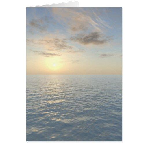 """Tarjeta """"de la opinión romántica del mar"""""""