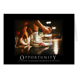Tarjeta de la oportunidad