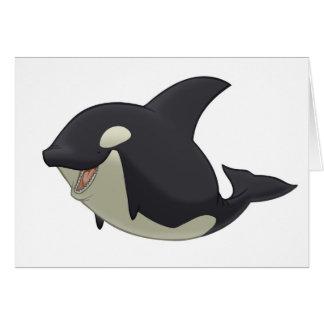 Tarjeta de la orca (espacio en blanco dentro)