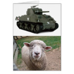 """""""Tarjeta de la oveja del tanque"""""""