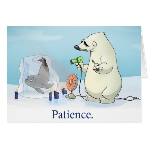 "Tarjeta de la ""paciencia"" (espacio en blanco dentr"