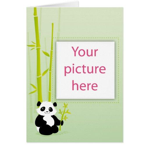 Tarjeta de la panda del bebé
