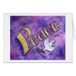 Tarjeta de la paz