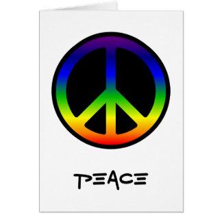 Tarjeta de la paz del arco iris