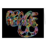 Tarjeta de la paz del diseño de la pintada; Brilla
