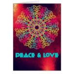 Tarjeta de la paz y del amor