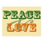 Tarjeta de la paz y del amor tarjetas postales