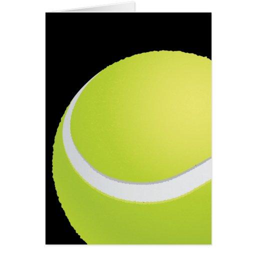 Tarjeta de la pelota de tenis