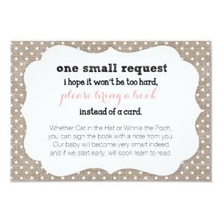 Tarjeta de la petición del libro de la fiesta de invitación 8,9 x 12,7 cm