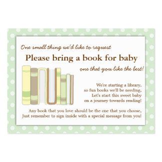 Tarjeta de la petición del parte movible del libro tarjetas personales