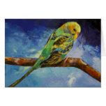 Tarjeta de la pintura del Parakeet