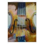 Tarjeta de la pintura del violín