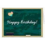 Tarjeta de la pizarra del feliz cumpleaños