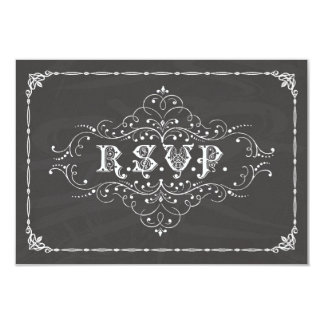 Tarjeta de la pizarra R.S.V.P. del vintage Invitación 8,9 X 12,7 Cm