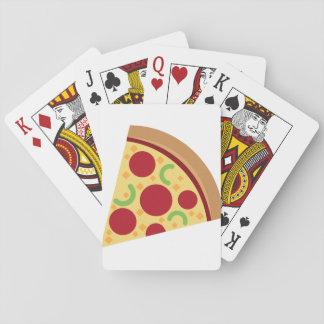 Tarjeta de la pizza cartas de juego