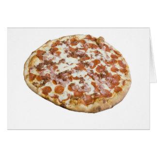 Tarjeta de la pizza de los amantes de la carne