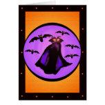 Tarjeta de la plantilla de Drácula de la cuenta