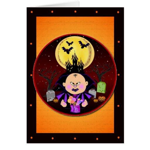 Tarjeta de la plantilla de Drácula del bebé