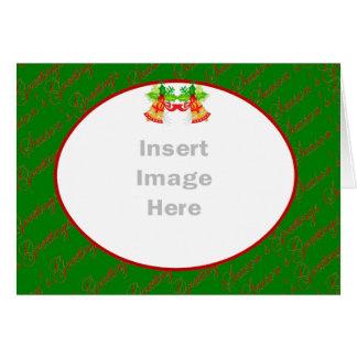 Tarjeta de la plantilla de la foto del navidad
