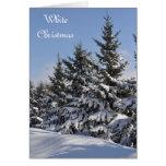 Tarjeta de la plantilla de la foto del navidad bla