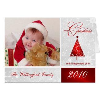 Tarjeta de la plantilla de la foto del navidad - F