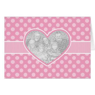 Tarjeta de la plantilla del el día de San Valentín