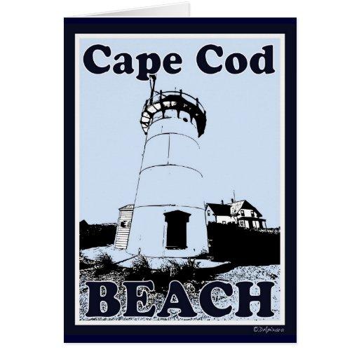 Tarjeta de la playa de Cape Cod