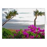 Tarjeta de la playa de Maui