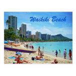 Tarjeta de la playa de Waikiki Postales