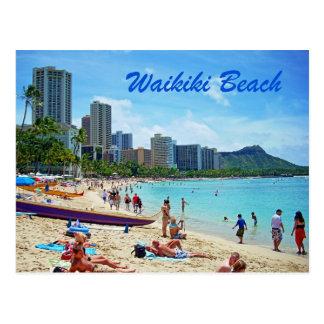 Tarjeta de la playa de Waikiki Tarjeta Postal