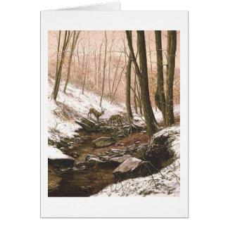 """Tarjeta de la """"primera nieve"""" de Paul McGehee"""