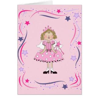 Tarjeta de la princesa cumpleaños