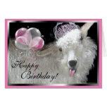 Tarjeta de la princesa feliz cumpleaños de la cabr