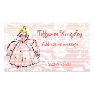 Tarjeta de la princesa visita tarjetas de visita